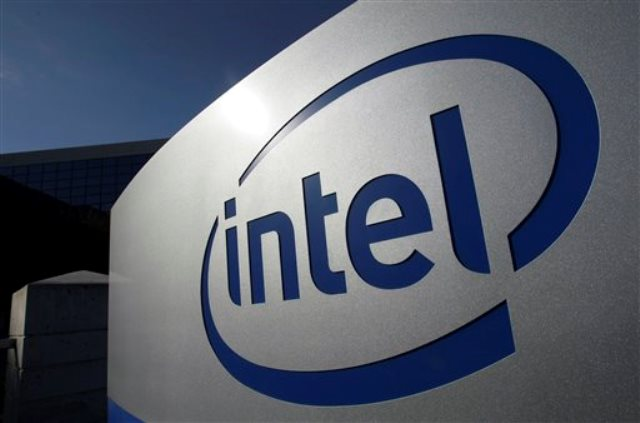 In this Jan. 12, 2011 photo the Intel logo is displayed on the exterior of Intel headquarters in Santa Clara, Calif. Intel Corp., releases quarterly financial results Thursday, Jan. 13, after the market close.(AP Photo/Paul Sakuma)