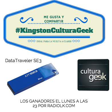 concurso sorteo Kingston Cultura GEek datatraveler