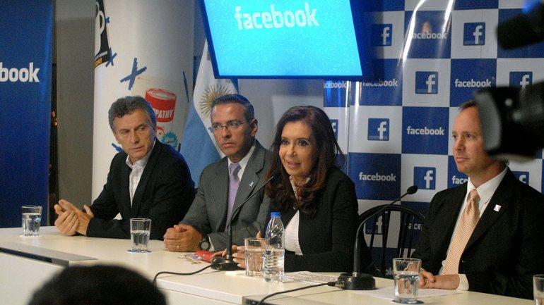 Cristina en la inauguración de Facebook @culturageek