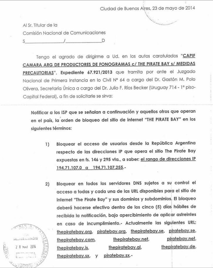 CNC carta completa Argentina the pirate bay