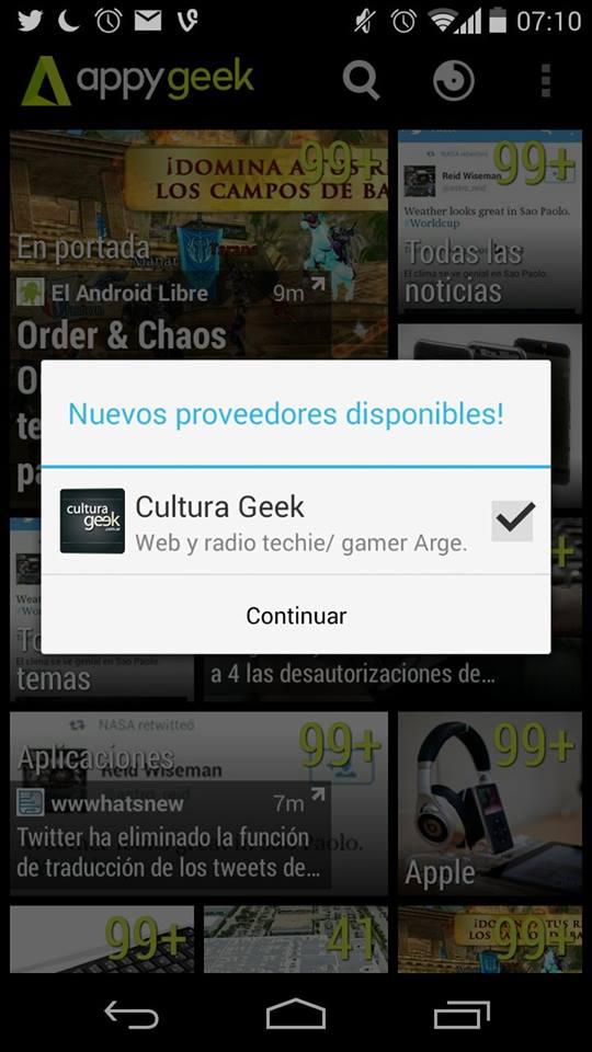 Cultura Geek en Appy Geek @culturageek
