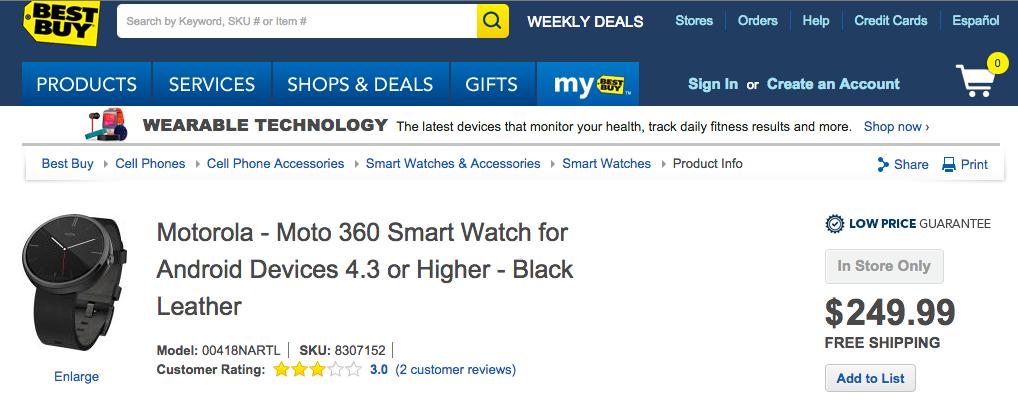 moto 360 smartwatch a la venta  precio culturageek.com.ar