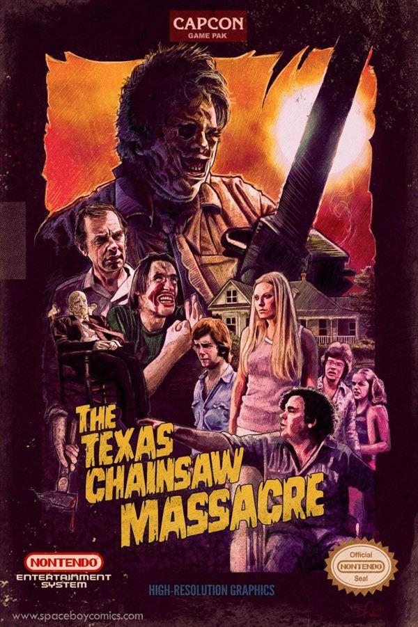 poster texas chainsaw massacre NES culturageek.com.ar