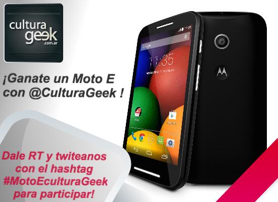 Moto E sorteo culturageek.com.ar