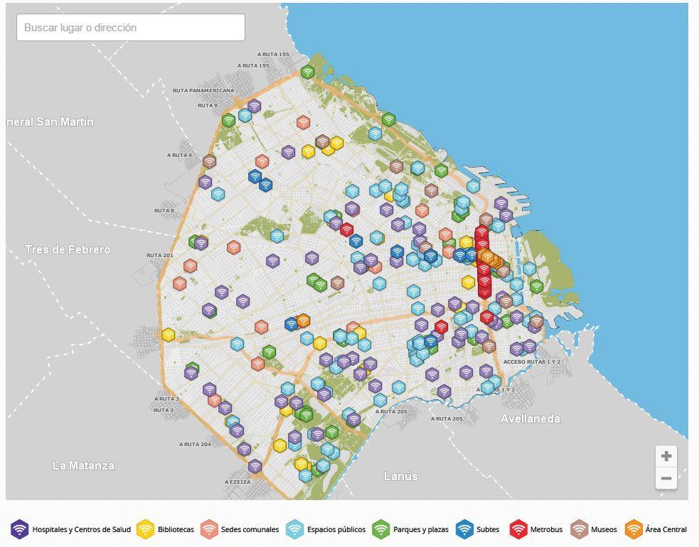 Culturageek.com.ar Mapa wifi gratis buenos aires