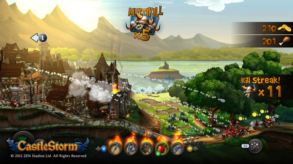 Cultura Geek Castle Storm games with gold