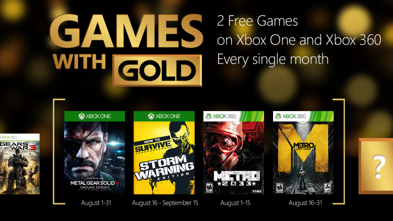 Cultura Geek Games with Gold Agosto 2015