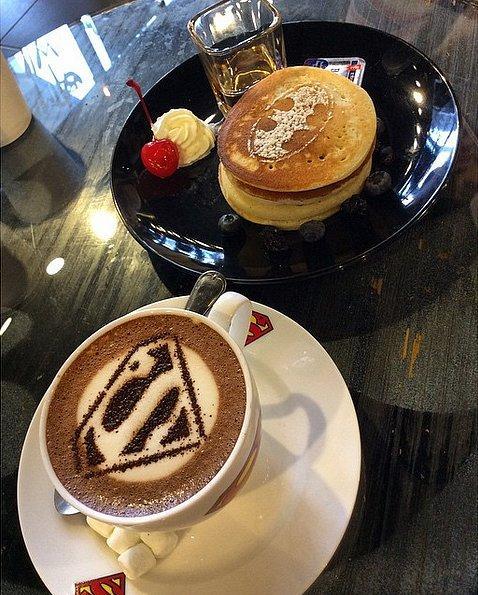 Batman-pancakes-Superman-mocha