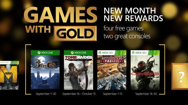 Cultura Geek games-with-gold septiembre 2015