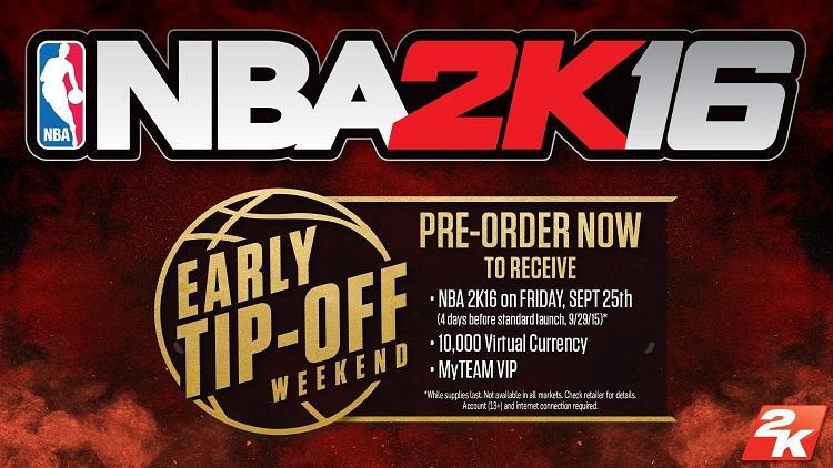 El NBA 2K16 traerá varios bonus con la reserva