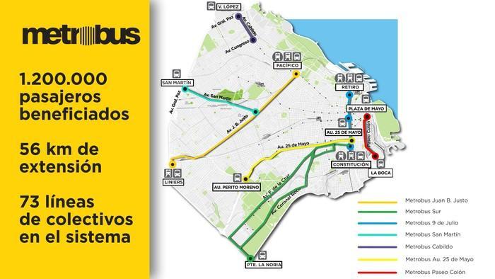 Metrobus mapa culturageek.com.ar