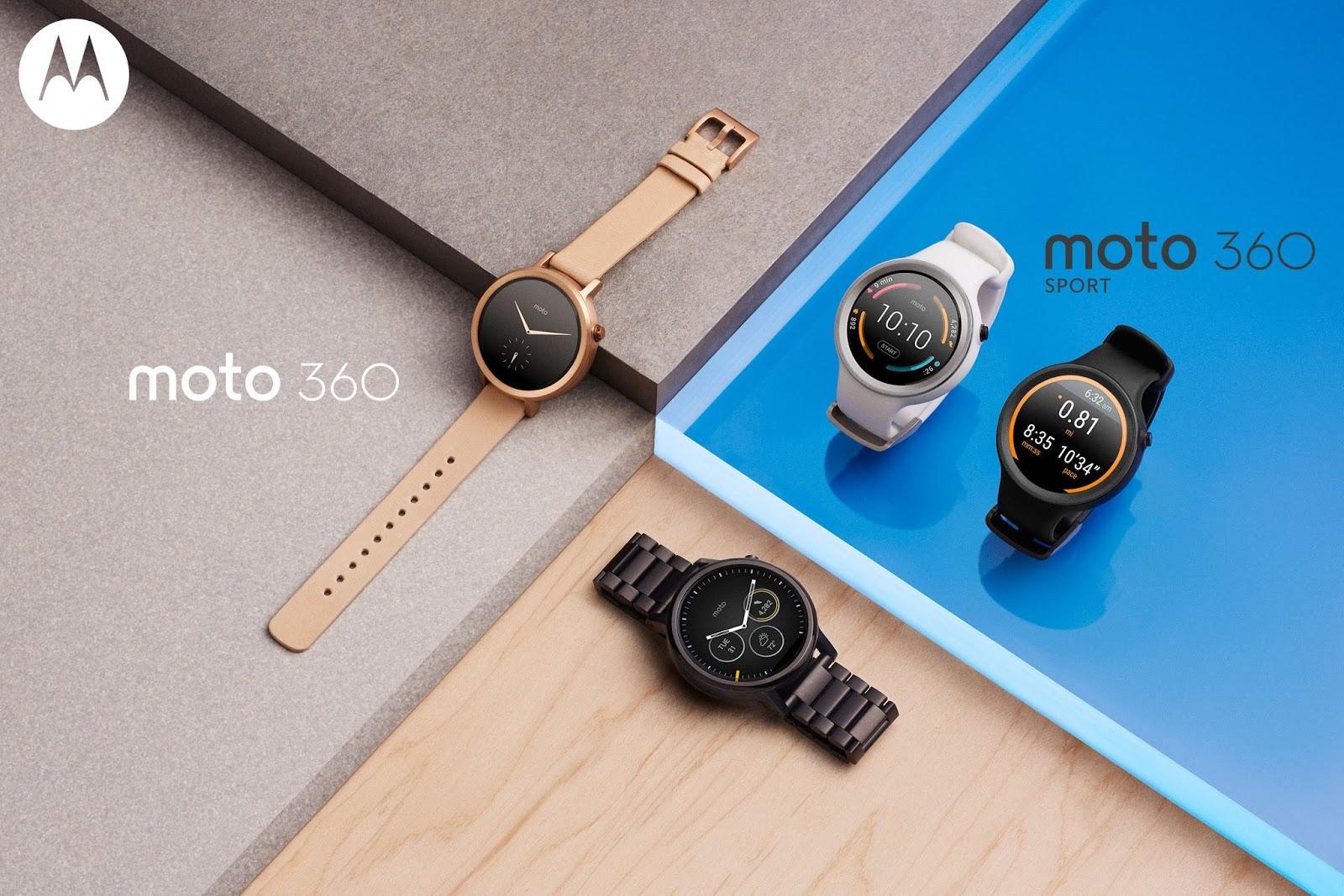 El nuevo Moto 360 en todas sus variantes.