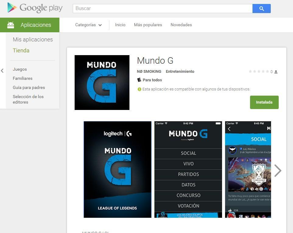 Mundo G Google Play