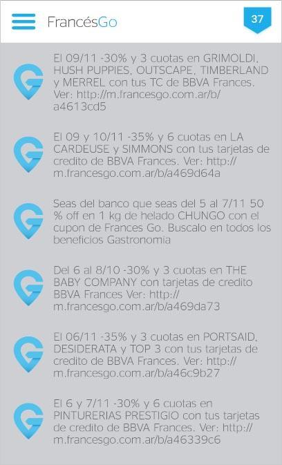 BBVA Banco Francés FrancésGo culturageek.com.ar