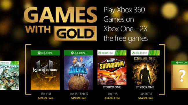 Cultura Geek Games With Gold Enero 2016