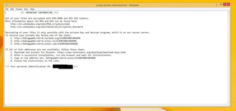 Locky-01 ransomware -culturageek.com.ar