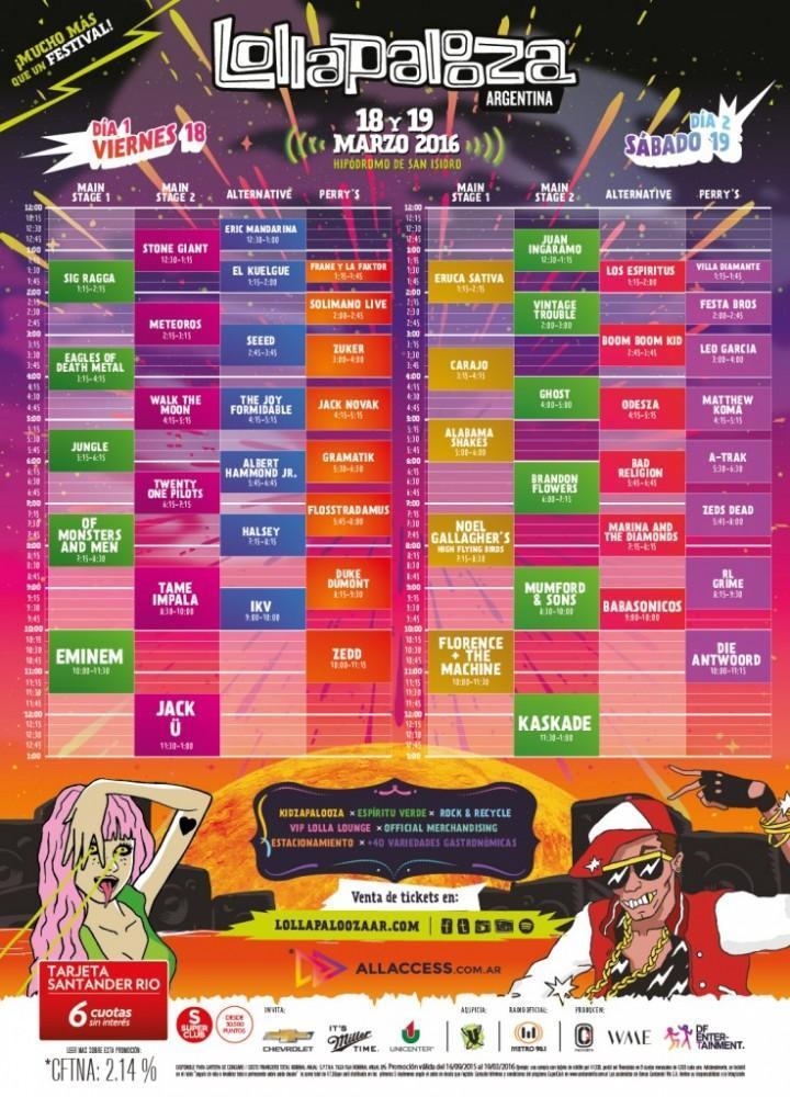 lollapalooza lineup- culturageek.com.ar