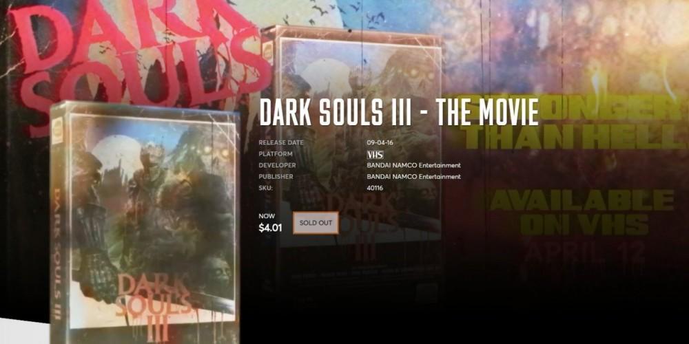 Cultura Geek Dark Souls III VHS 2