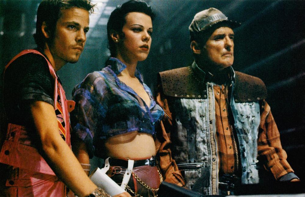 SPACE TRUCKERS, from left: Stephen Dorff, Debi Mazar, Dennis Hopper, 1996, © TriPictures