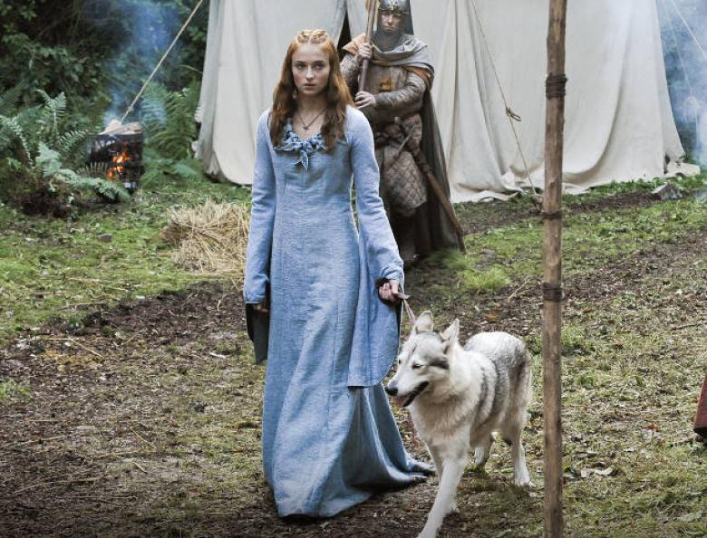 Cultura Geek Game of Thrones Direwolves Lady