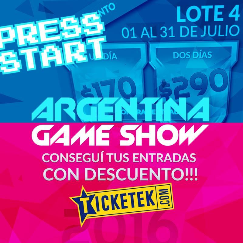 Cultura Geek Argentina Game Show Entradas 1