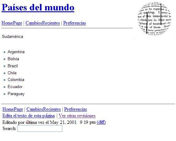 Primer artículo de Wikipedia en español.