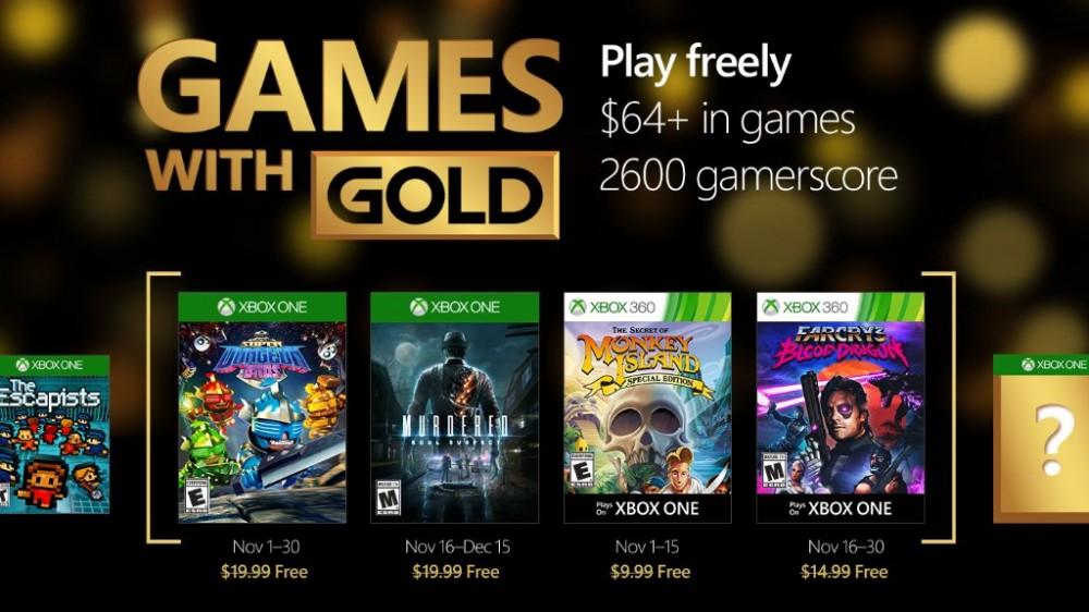 cultura geek games with gold noviembre 2016