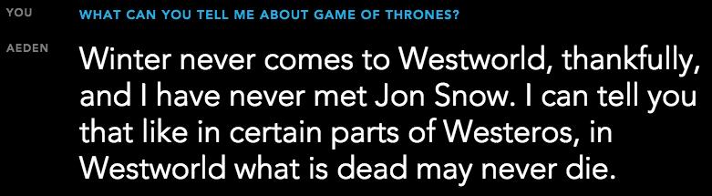 www.culturageek.com.ar Westworld Bot Game of Thrones 1