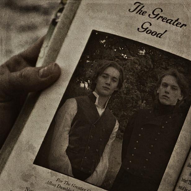 Dumbledore y Grindelwald.