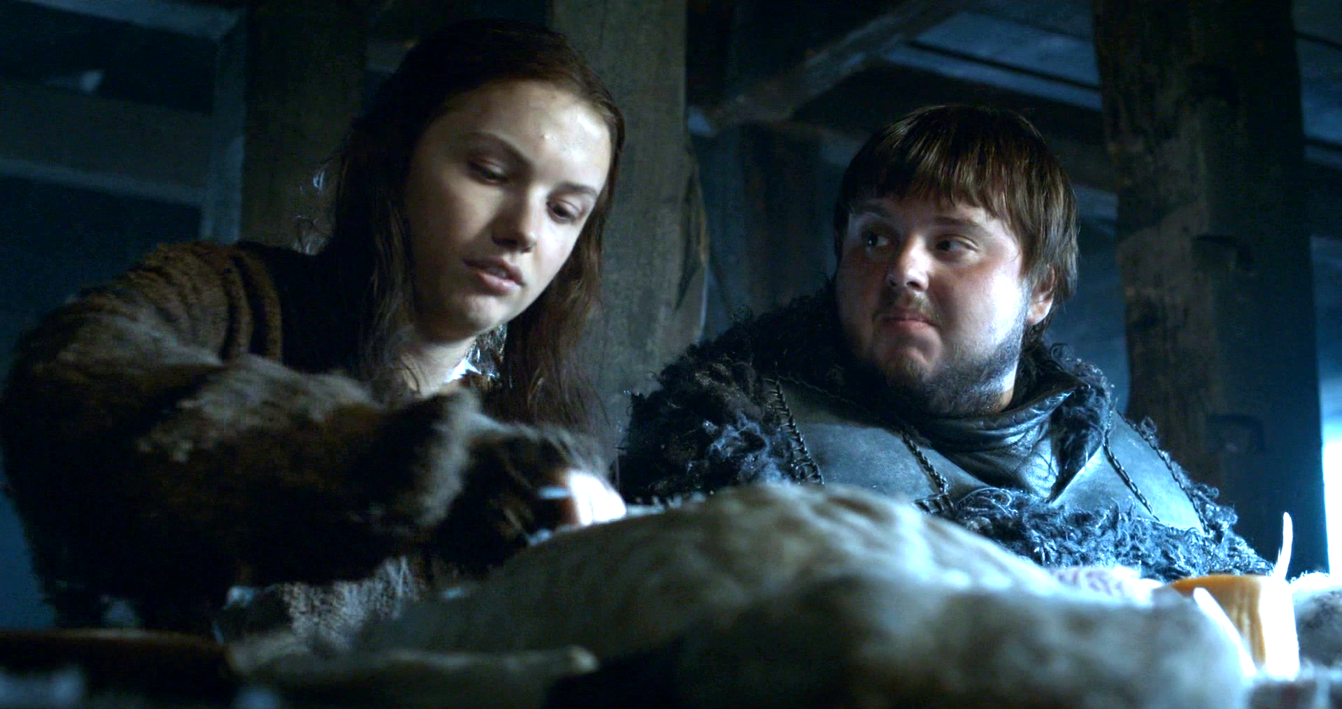 Game of thrones - Sam y Gilly
