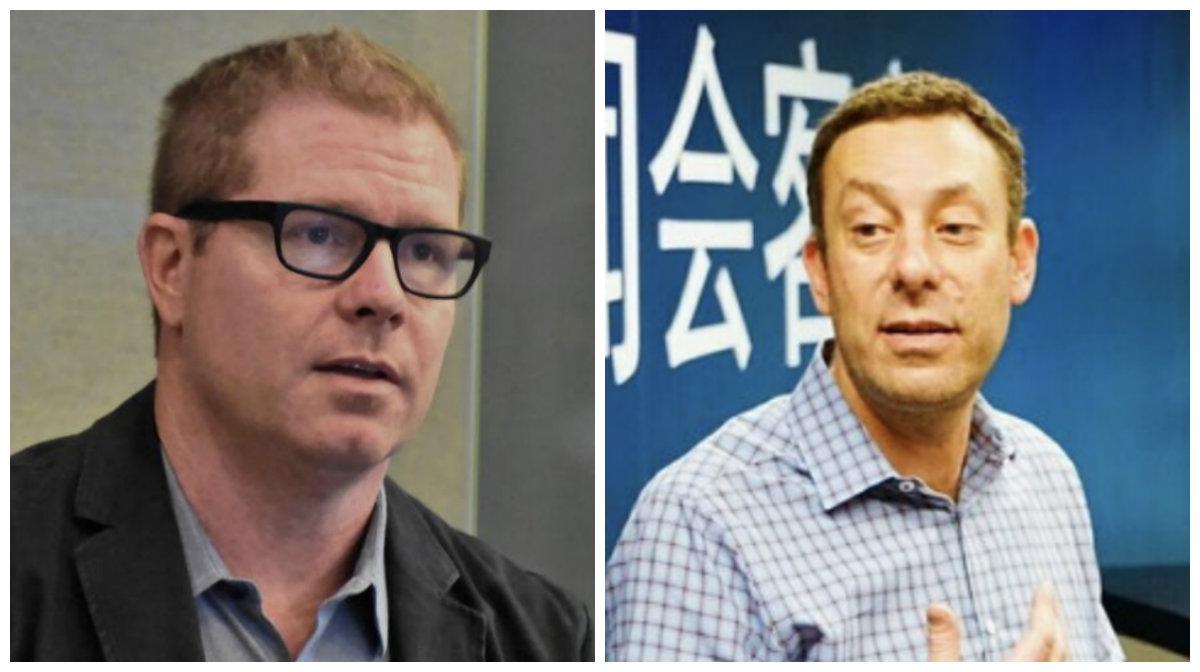 Lee Machen (izq) - Mark Subotnik (derecha) - directivos de Intel