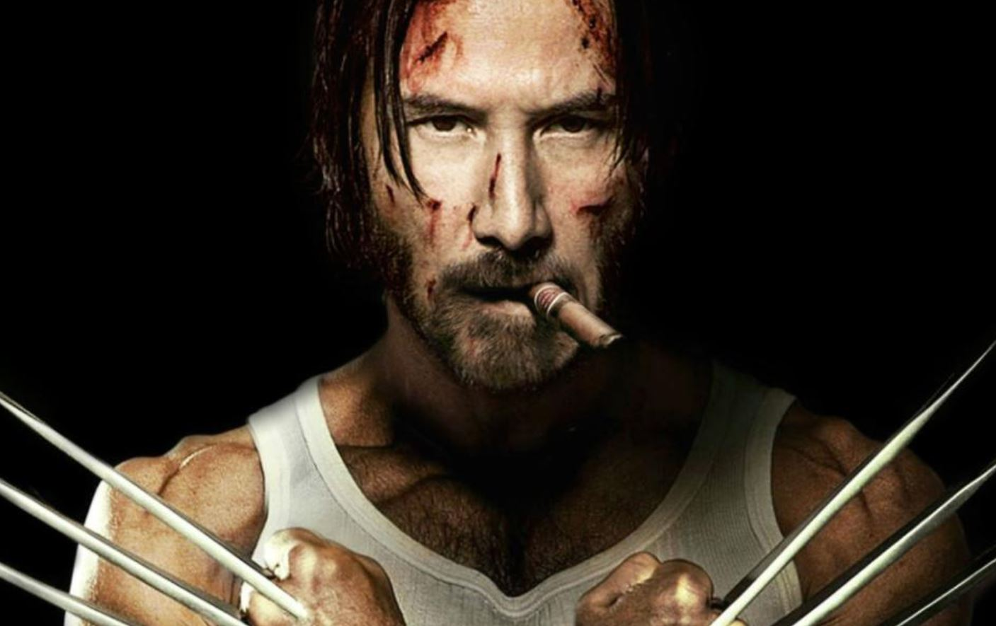 Keanu Reeves como Wolverine - foto via ScreenGeek