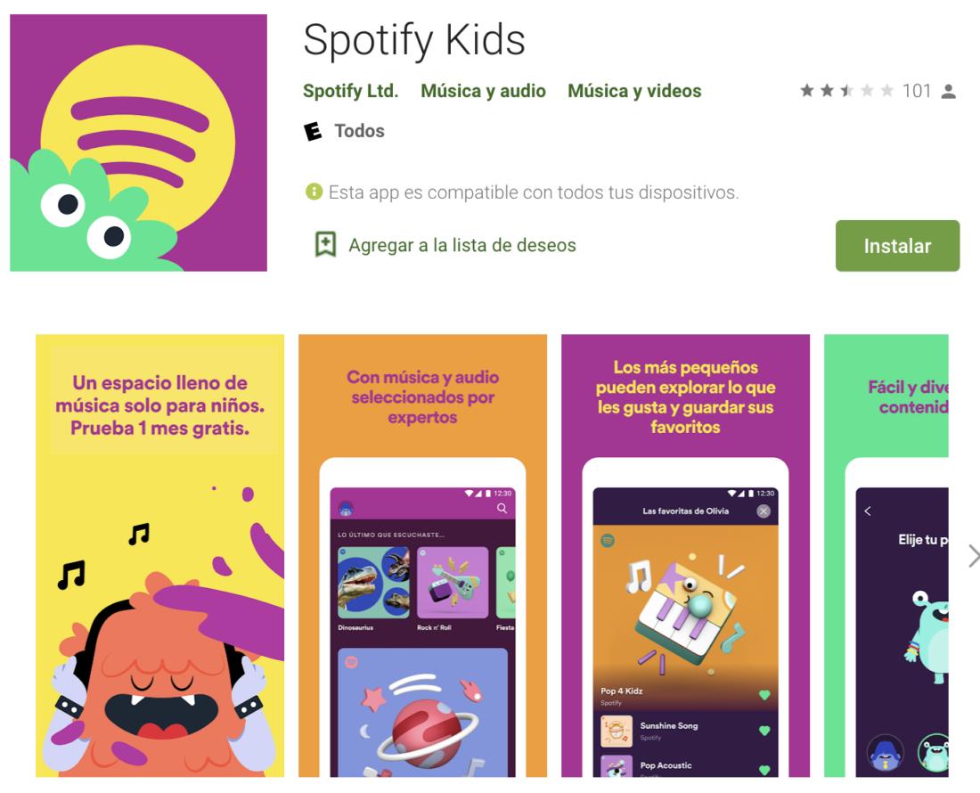 Spotify Kids culturageek.com.ar
