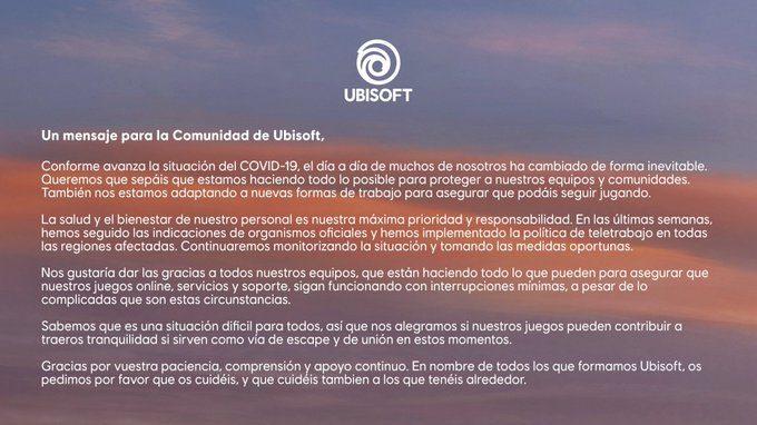 Coronavirus-Ubisoft-comunicado