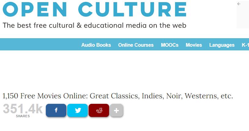 Cinco Sitios Para Ver Y Bajar Películas Y Series Gratuitas De Dominio Público Cultura Geek