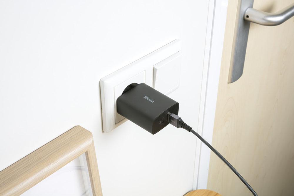 trust trust mobile accesorios cargador de pared www.culturageek.com.ar