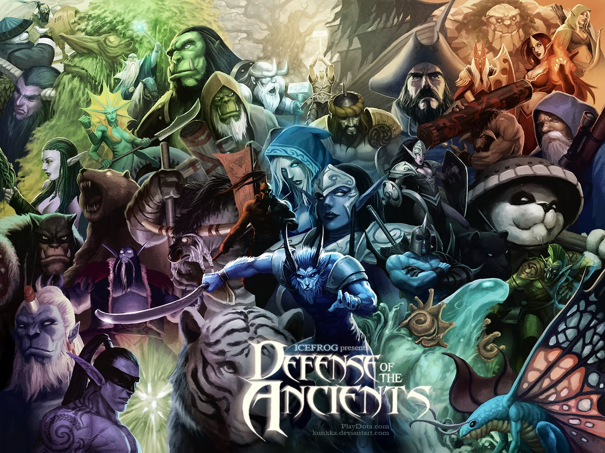 Defense of the ancients , previo a Heroes of the Storm