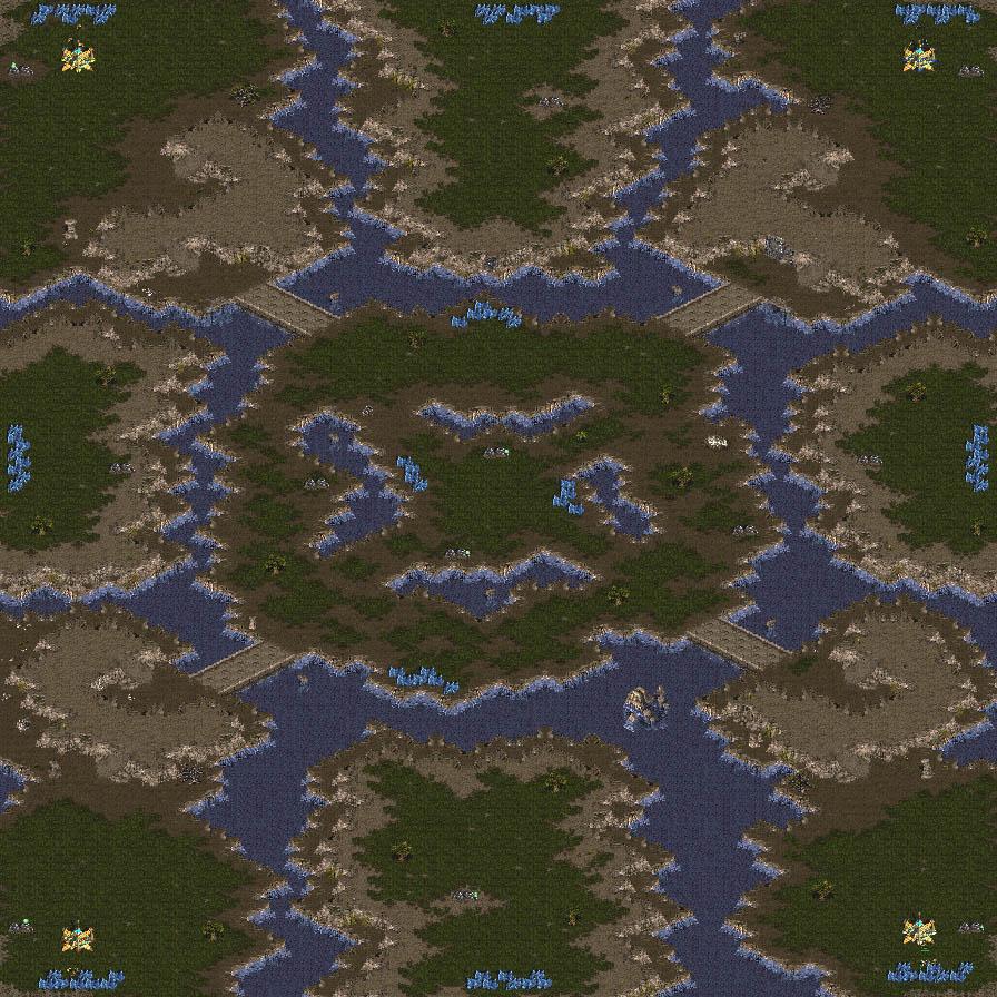 mapa base para Heroes of the Storm